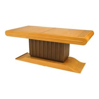 Italian Birds Maple Bar Cabinet Coffee Table For Sale