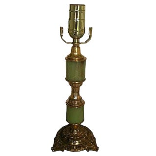 Gustavian Style Green Table Lamp For Sale