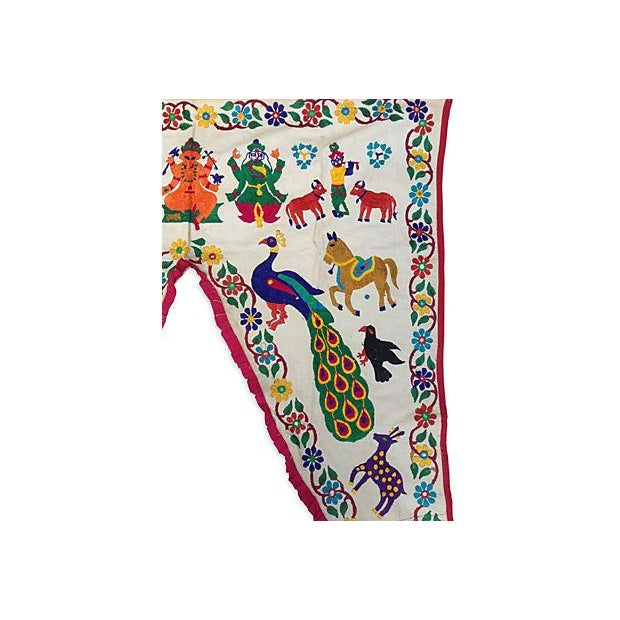 Embroidered Ganesha Window Valance For Sale - Image 4 of 7