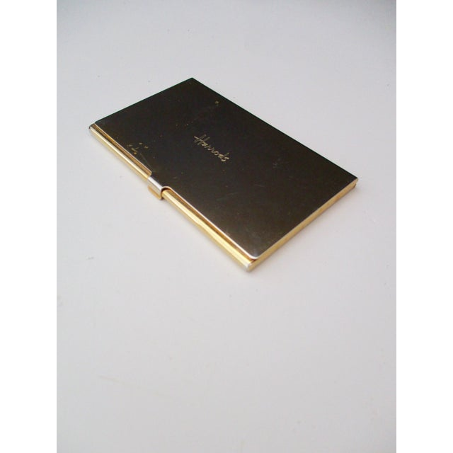 Harrods London Gold Compact Business Card Case - Image 2 of 8