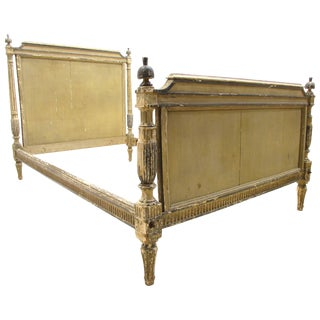 Antique French Painted Louis XVI Directorie Bed For Sale