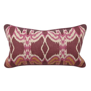 Plum Ikat Lumbar Pillow