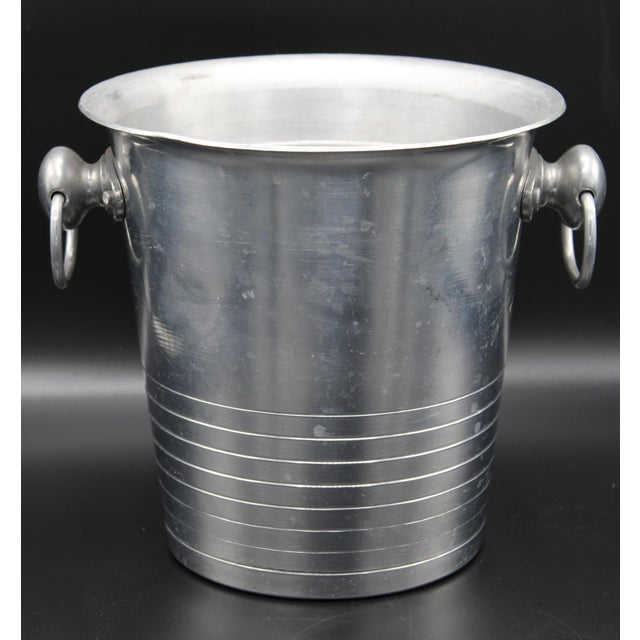 Silver Vintage French Barancourt Champagne Ice Bucket For Sale - Image 8 of 13