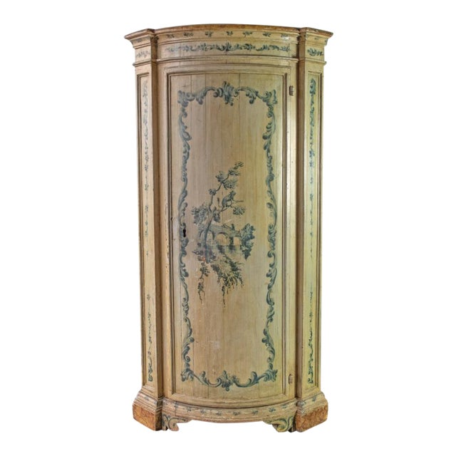 Antique Italian Corner Cupboard For Sale