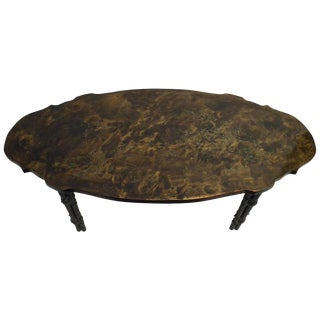 Laverne Muses Boucher Bronze Coffee Table For Sale