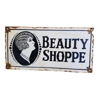 Antique 1920s New Orleans Beauty Shop Sign For Sale