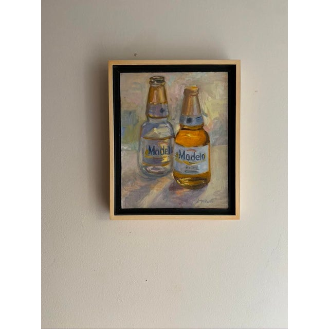 """Realism """"Afternoon"""" Contemporary Still Life Oil Painting, Framed For Sale - Image 3 of 5"""