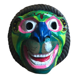 1940s Vintage Hand-Painted Monkey Mask For Sale