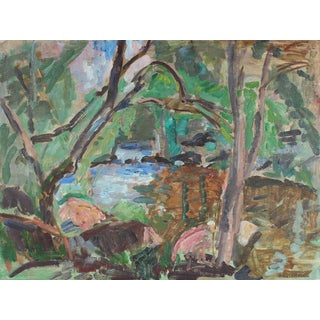 Gerald Wasserman Abstracted Landscape For Sale