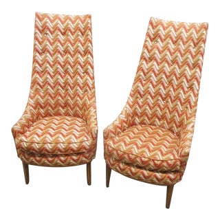 Mid Century Pearsall Style Lounge Chairs - a Pair For Sale