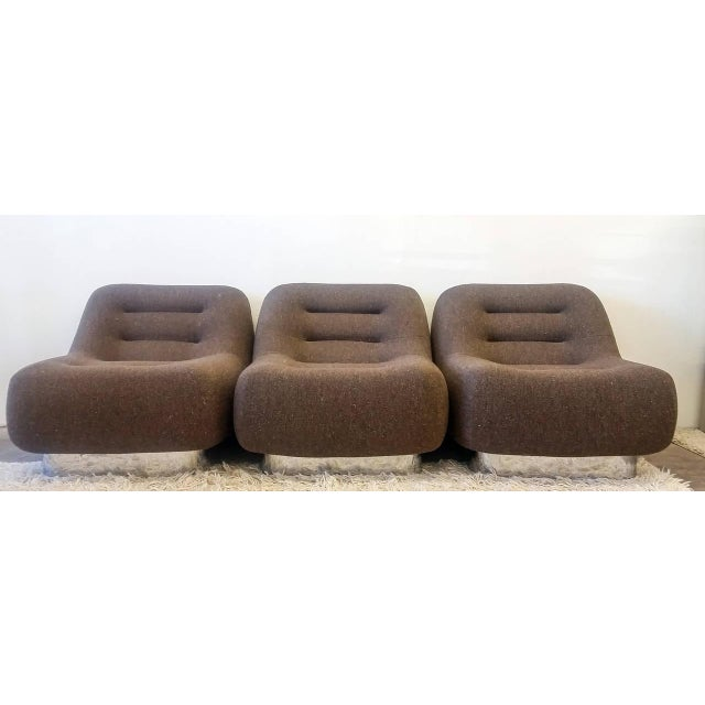 Silver 1970s M. F. Harty for Stow Davis Tomorrow Sofa Chairs and Table Suite - Set of 4 For Sale - Image 8 of 11