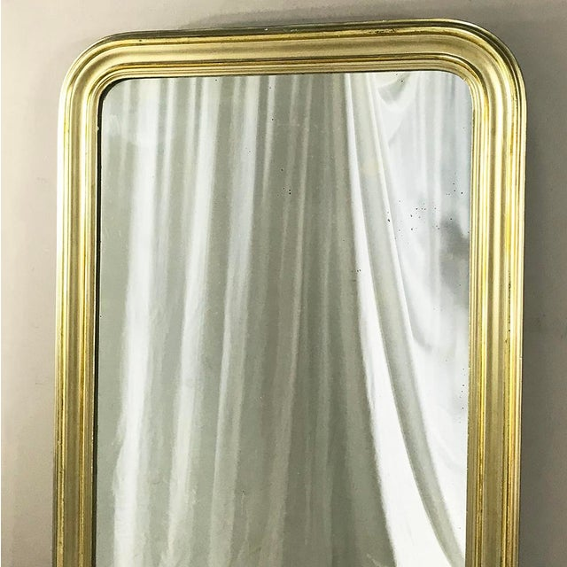 Mid 19th Century 19th Century French Louis Philippe Gilded Mirror For Sale - Image 5 of 9