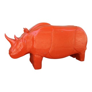 Modern Solid Wood Rhino For Sale