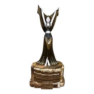 Art Deco Paris Ballet Dancer Sculpture by D.H. Chiparus & Etling For Sale