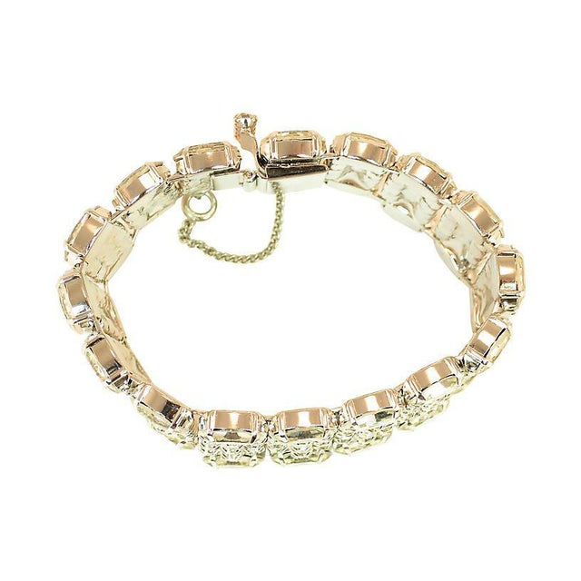 1950s Weiss Segmented Crystal Bracelet, 1950s For Sale - Image 5 of 7