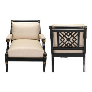 Leather Lounge Armchairs For Sale