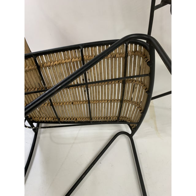 Iron Ficks & Reed Mid-Century Modern Bamboo & Rod Iron Dining Chairs - Set of 2 For Sale - Image 7 of 11