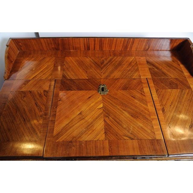 Louis XVI Louis XVI Walnut Valuables Cabinet Desk For Sale - Image 3 of 11