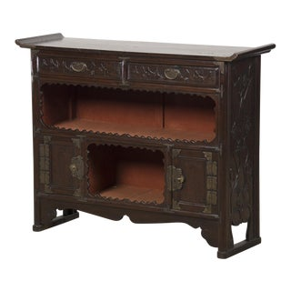 Antique Chinese Scholar's Cabinet, Original Lacquered Finish, Kuang Hsu Period, circa 1875 For Sale