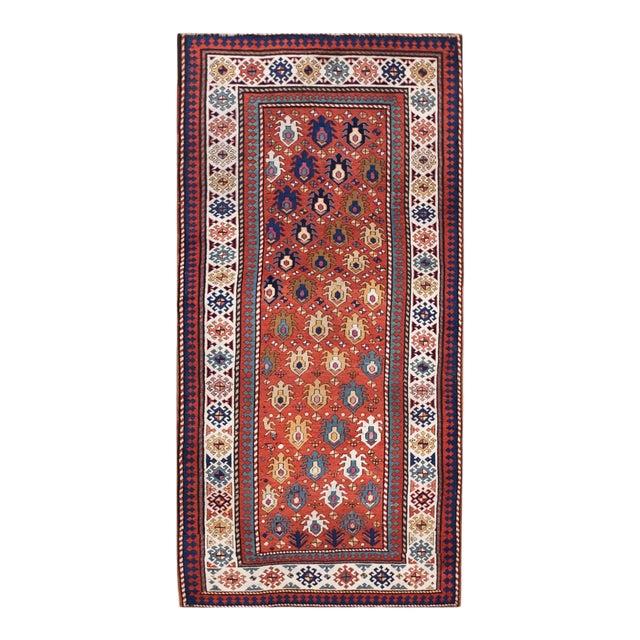 """Antique Caucasian - Kazak Rug 4'0"""" X8'6"""" For Sale"""