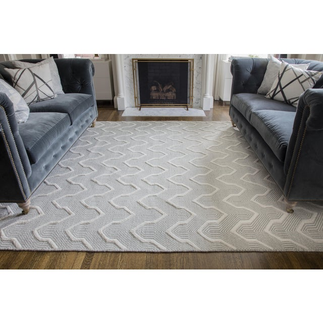 Erin Gates by Momeni Langdon Prince Grey Hand Woven Wool Area Rug - 8′6″ × 11′6″ For Sale In Atlanta - Image 6 of 7