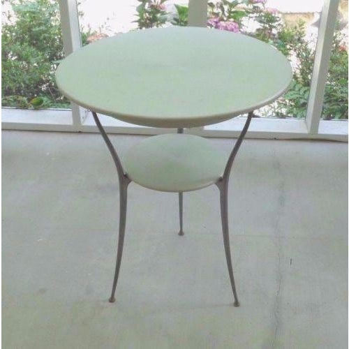 Mid Century Italian Arper Aluminum Table - Image 3 of 10