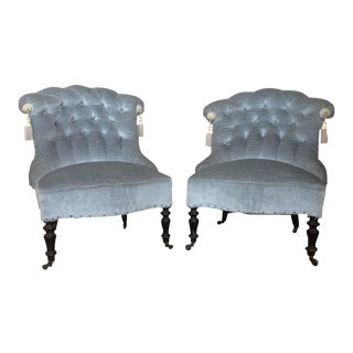 19th Century Napoleon III Armchairs - a Pair For Sale