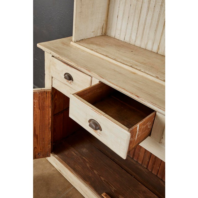 American Painted Pine Kitchen Cabinet Cupboard or Bookcase For Sale In San Francisco - Image 6 of 13