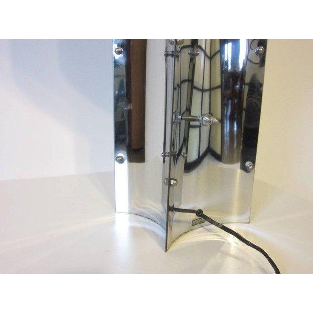 1980s Sonneman Sculptural Chromed Table Lamp For Sale - Image 5 of 8