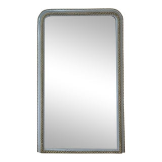 19th Century French Louis Philippe Silvered Mirror For Sale