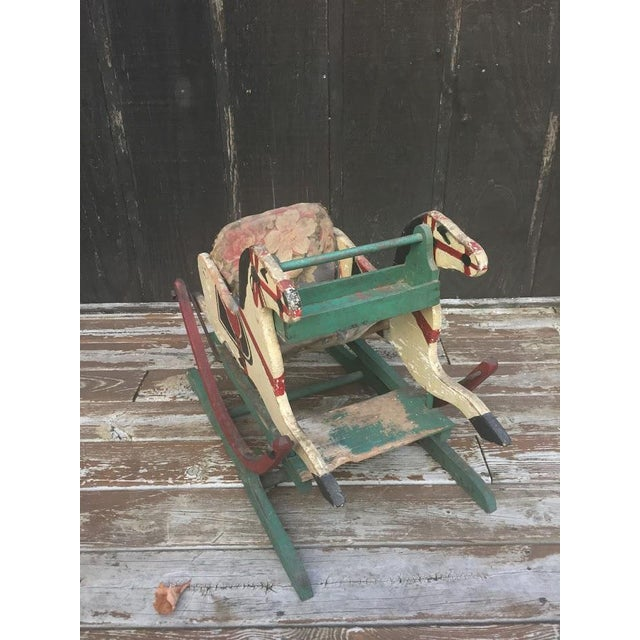 Late 1800s Victorian Double Rocking Horse For Sale - Image 4 of 11