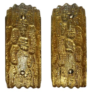 Pair of Sconces by Carl Fagerlund for Orrefors For Sale
