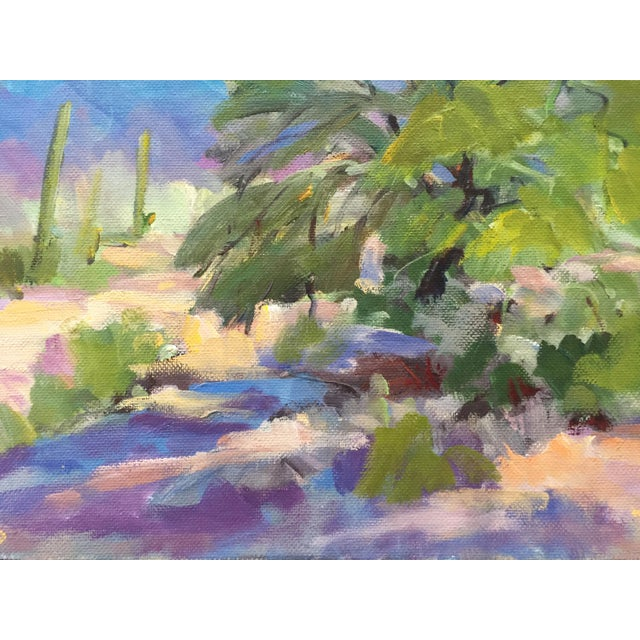 Southwest Landscape With Cactus and Mesquite Tree by Scola - Image 5 of 6
