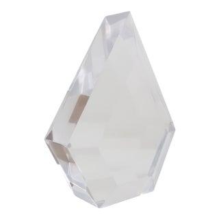 1970s Vintage Lucite Diamond Sculpture For Sale