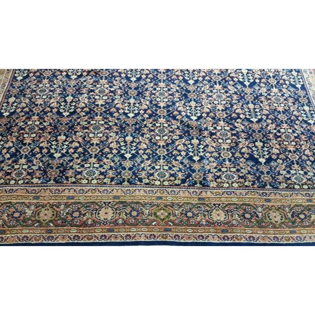 Traditional Early 20th Century Antique Persian Malayer Handmade Rug - 7′3″ × 10′6″ - Size Cat. 6x9 8x10 For Sale - Image 3 of 7
