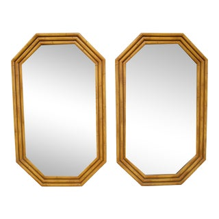 Faux Bamboo Mirrors – a Pair For Sale