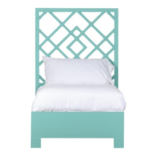Darien Bed Twin Extra Long - Turquoise For Sale