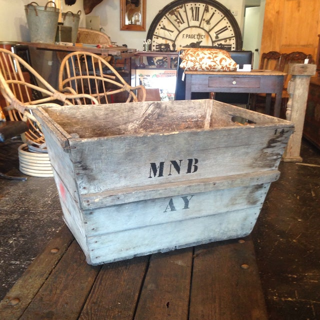 Vintage champagne crate that is excellent for household storage and it has a great rustic presence that will add charm and...