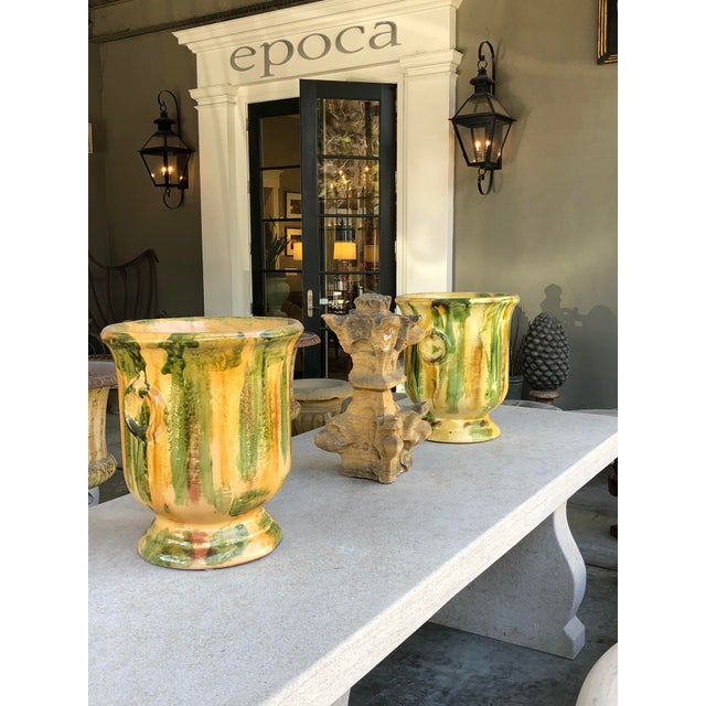 French Anduze Style Dripped-Glazed Pottery Urn For Sale In San Francisco - Image 6 of 7