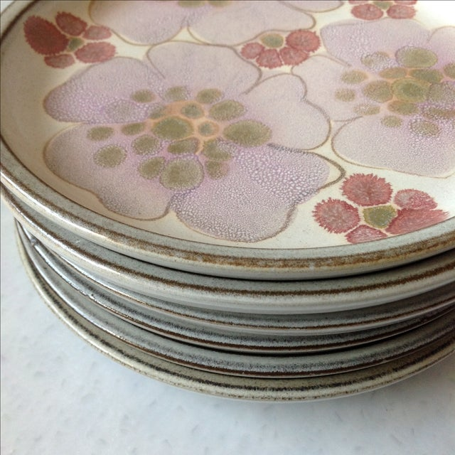 Gypsy Rose Plates by Denby - Set of 6 - Image 8 of 10