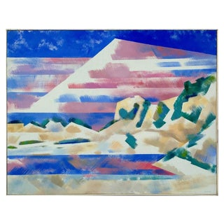 Mountains and High Desert Painting by Erle Loran For Sale