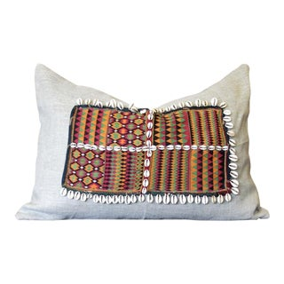 Ubika Jumlo Embroidered Shell Pillow For Sale