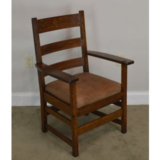 Antique Mission Oak Armchair Possibly Stickley Preview