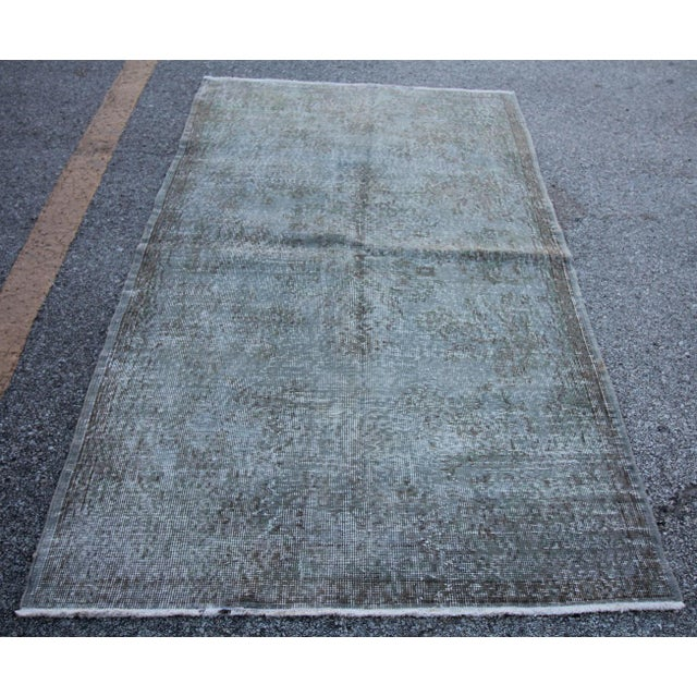"""Vintage Gray Overdyed Rug - 4'2"""" X 7' - Image 2 of 4"""