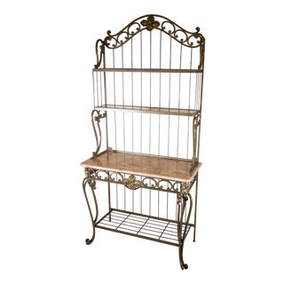 Collezione Europa, Inc. Wrought Iron Used Baker's Rack For Sale