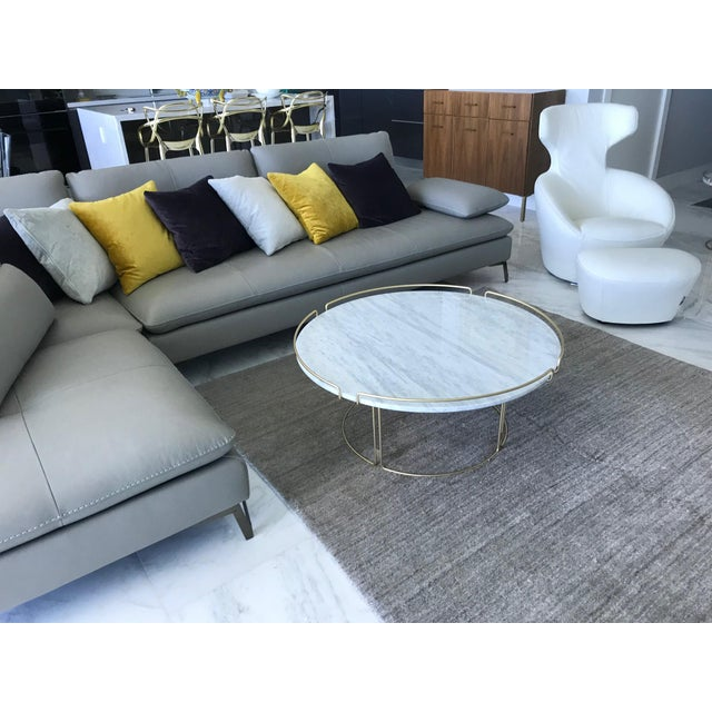 Bijou Cocktail Table in Marble and Matte Gold by Roche Bobois For Sale In Miami - Image 6 of 13
