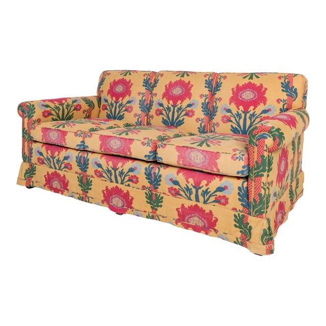 1980s Vintage Patterned Sofa For Sale