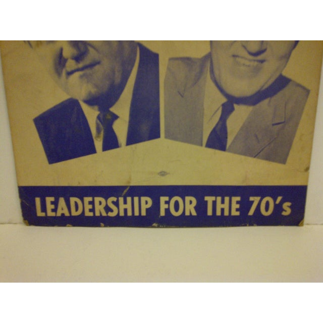 Vintage Presidential Campaign Poster, 1968 For Sale - Image 4 of 6