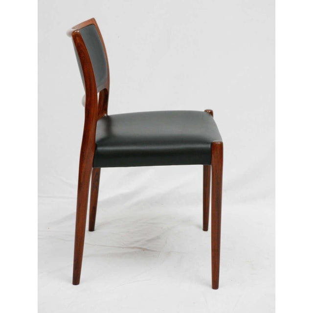 Set Of 6 Rosewood Niels Moller Dining Chairs For Sale In Los Angeles - Image 6 of 9