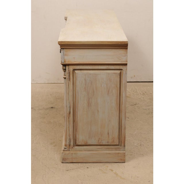 White Mid-20th Century Painted Wood Buffet For Sale - Image 8 of 12